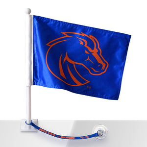 Boise State Car Flag w/Flag Saver (Blue)
