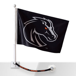Boise State Car Flag w/Flag Saver (Black)