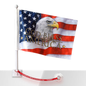 God Bless America Eagle w/Flag Saver