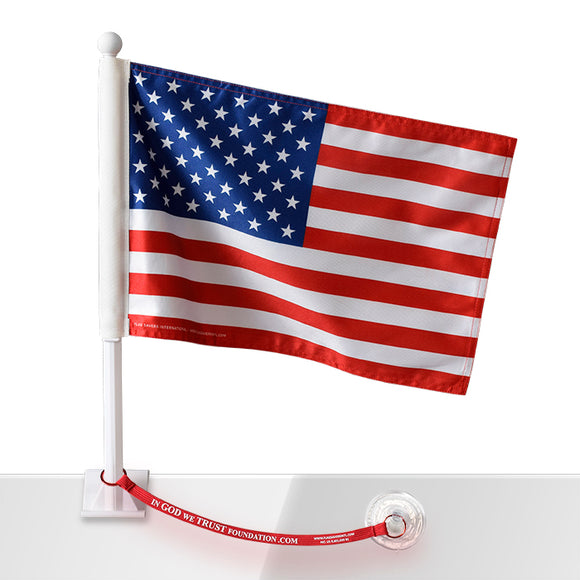 In God We Trust Foundation American Flag w/Flag Saver