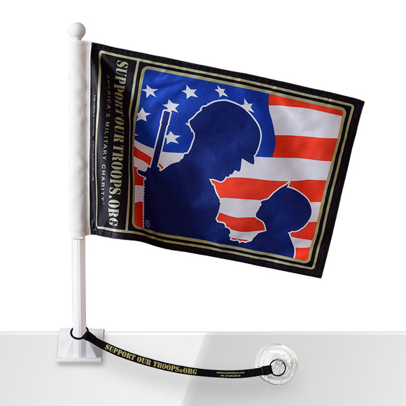 Support Our Troops® Car Flag w/Flag Saver
