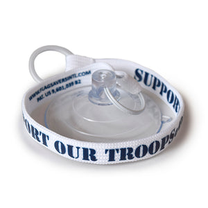 Flag Saver Tether - Support Our Troops® (White/Blue)