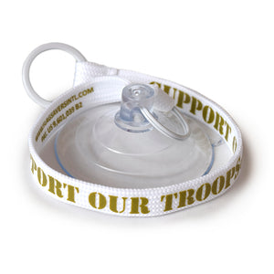 Flag Saver Tether - Support Our Troops® (White/Olive)