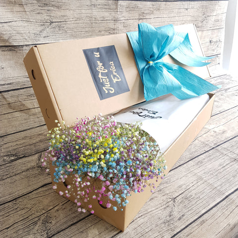 Colorful Baby Breath Gifts Box ABX09