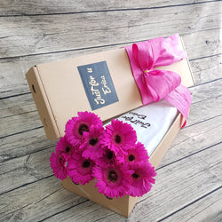 Shocking Pink  Gerbera Gifts Box ABX10