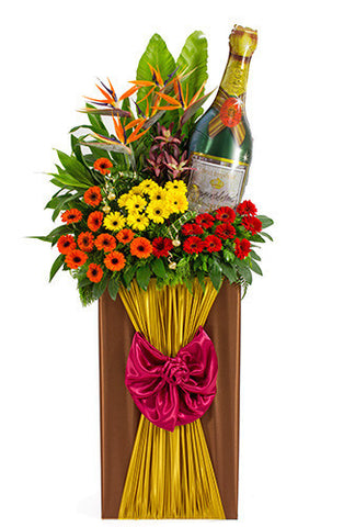 Toast to Blooming Success Congratulatory Flower Stand AGP 22