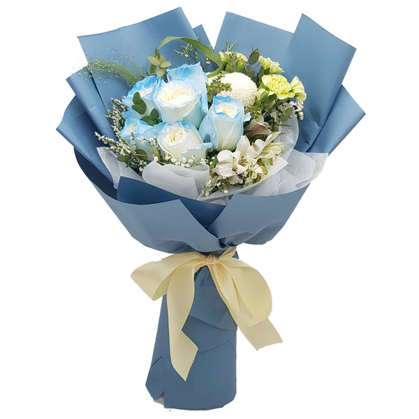 Blue Roses Hand Bouquet