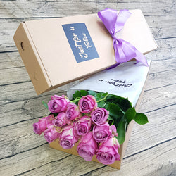 PURPLE ROSES GIFT BOX ABX05