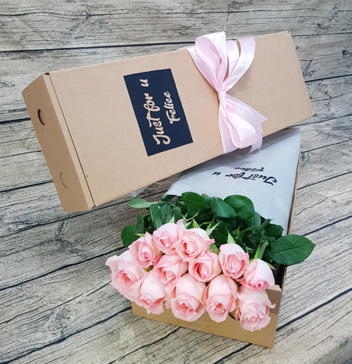 SWEET PINK ROSES GIFT BOX ABX03