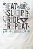 Eat sleep ride repeat bela majica kerefeke