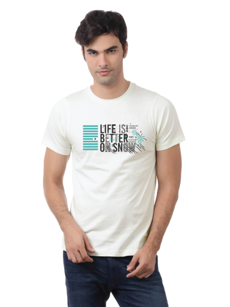 "Men's T shirt ""Life Is Better On Snow"""