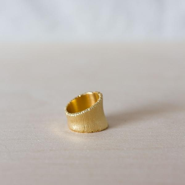 Mossige GoldLab Ginko Ring Gullforgylt - Norway Designs