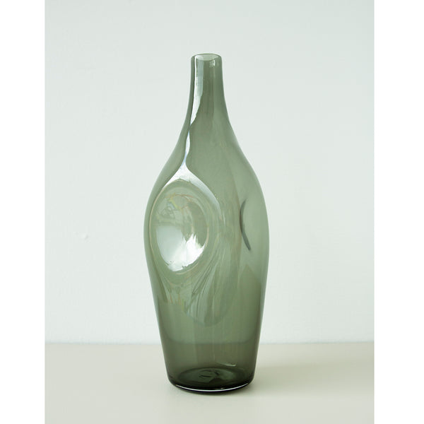 Klart Glass Fusion Flask 36cm Grå - Norway Designs