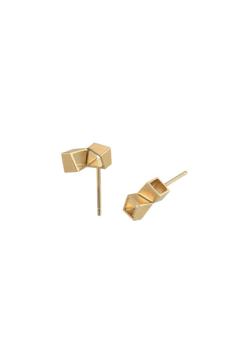 Alma Sophia Design - Square Studs Øredobber Forgylt - Norway Designs