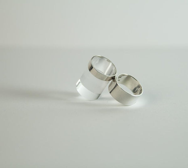 Anne-Karine Solgaard - Bolt Ring Tranparent/Sølv - Norway Designs