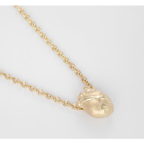 Bjørg Gold Anatomic Heart Liten Halskjede 45/50/55 cm - Norway Designs