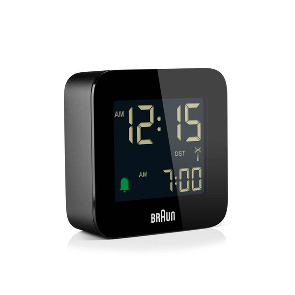 Braun Digital Vekkerklokke Liten RC BC08B Sort - Norway Designs