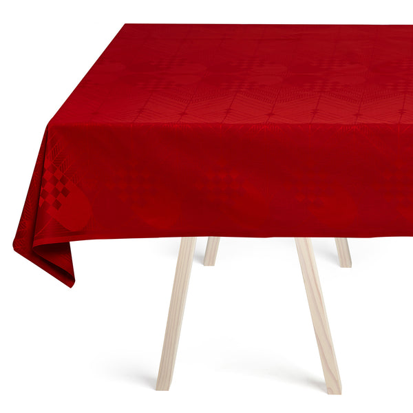 Georg jensen Damask - Juleduk Deep Red 140x200cm - Norway Designs