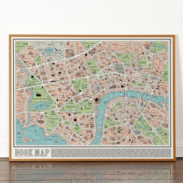 Dorothy Book Map Plakat 60x80cm - Norway Designs