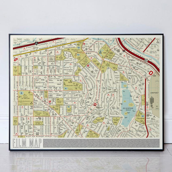 Dorothy Film Map Plakat 60x80cm - Norway Designs