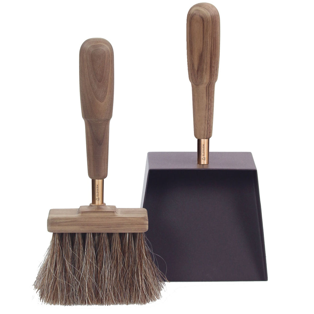 Eldvarm  Shovel & Brush Emma Classique Walnut Peisutstyr Sort/Valnøtt - Norway Designs