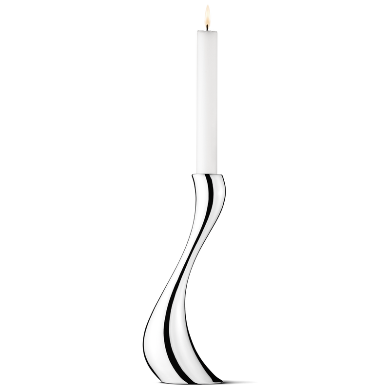 Georg Jensen Cobra Lysestake Stor 24cm Stål - Norway Designs