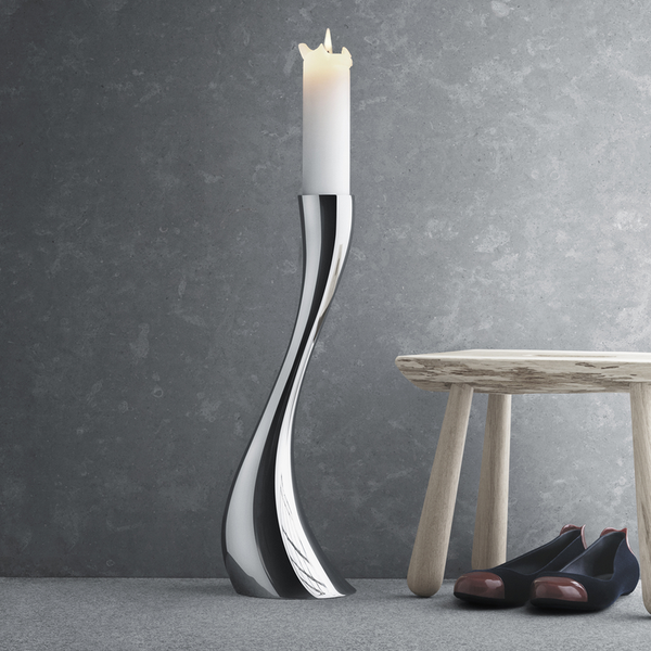 Georg Jensen Cobra Gulvlysestake Medium 50cm Blankt Stål - Norway Designs