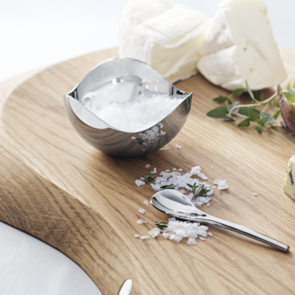 Georg Jensen Bloom  Saltskål med Skje Stål - Norway Designs