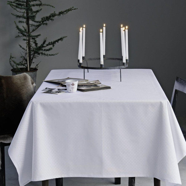 Georg Jensen - Damask Duk 140x270cm Hvit - Norway Designs