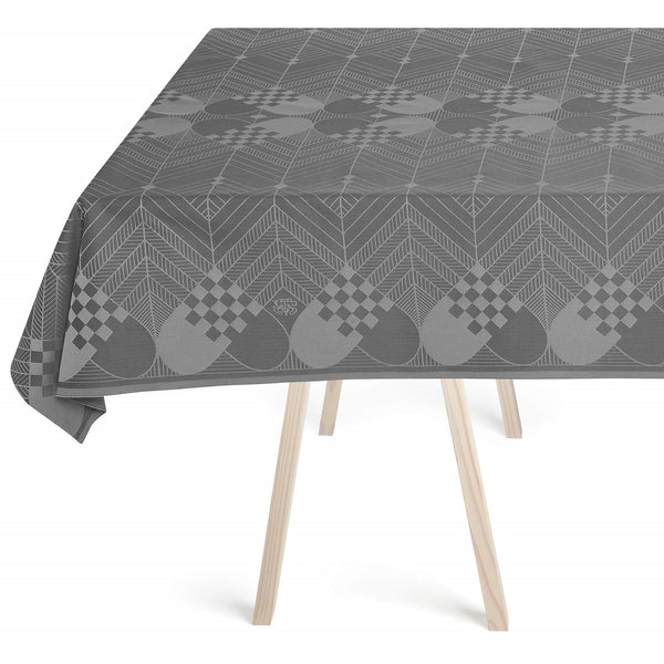 Georg Jensen Damask - Juleduk Winter Grey 165x260cm - Norway Designs