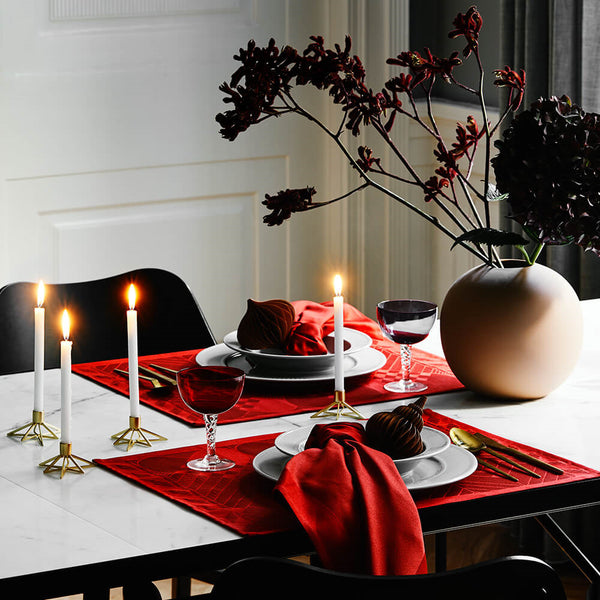 Georg Jensen Damask - Christmas Deep Red Spisebrikke 4stk - Norway Designs