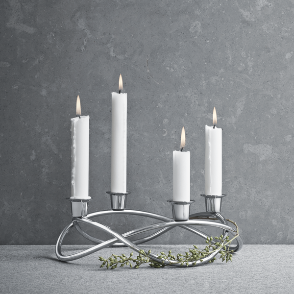 Georg Jensen - Season Lysestake Blankt Stål - Norway Designs