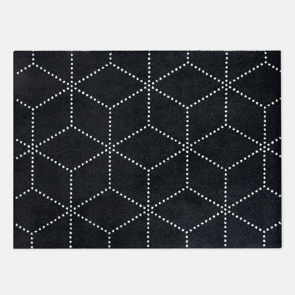 Heymat Dørmatte Hagl Black 85x115cm Sort/Hvit - Norway Designs