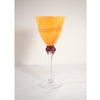 Irene Harvik - Kunstglass Kryss Vinglass Orange - Norway Designs