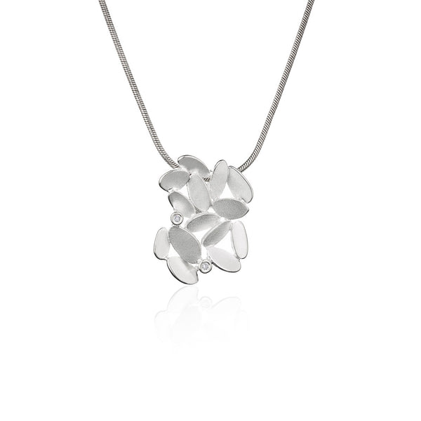 Kaja Gjedebo Glimmer Lyng Anheng Medium Sølv/Diamanter - Norway Designs