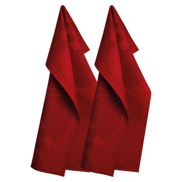 Georg Jensen Damask -  Christmas Deep Red Kjøkkenhåndkle 2stk  - Norway Designs