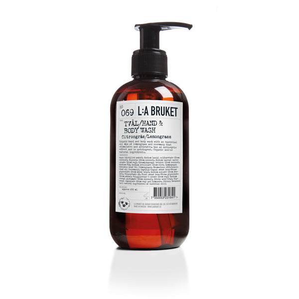 L:A Bruket Flytende Såpe Sitrongress 250ml - Norway Designs