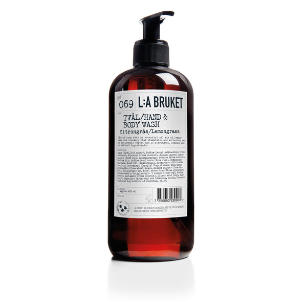 L:A Bruket Flytende Såpe Sitrongress 450ml - Norway Designs