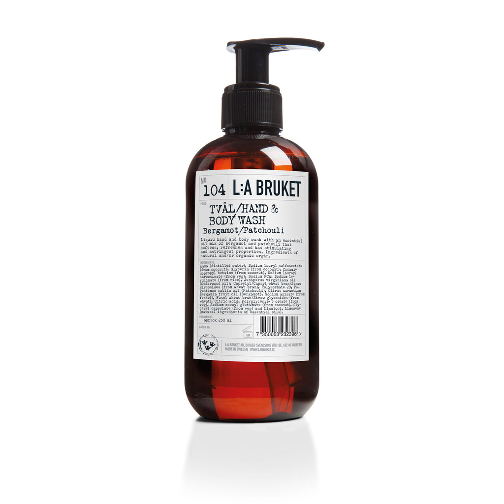L:A Bruket Flytende Såpe Bergamott/Patchouli 250ml - Norway Designs