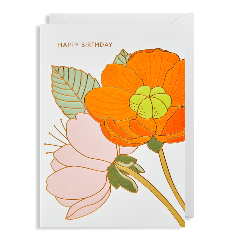 "Lagom Design - ""Happy Birthday"" Kort - Norway Designs"