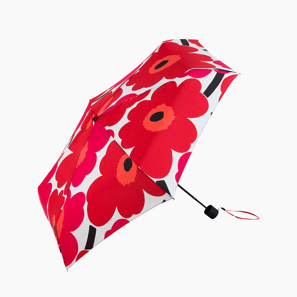 Marimekko Pieni Unikko Mini Paraply Rosa/Rød/Hvit - Norway Designs
