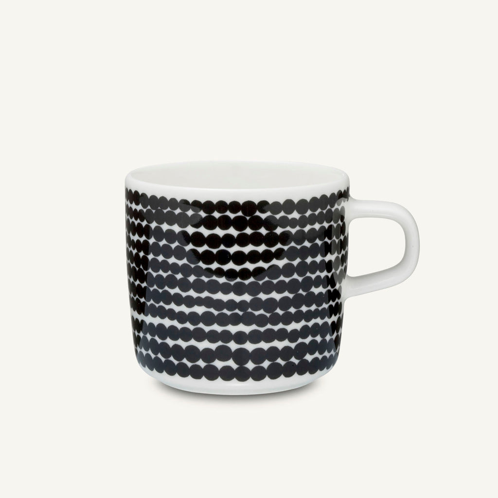 Marimekko Oiva Rasymatto Kopp 4 dl Sort/Hvit - Norway Designs