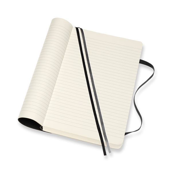 Moleskine - Classic Softcover Notatbok Linjert L Sort - Norway Designs