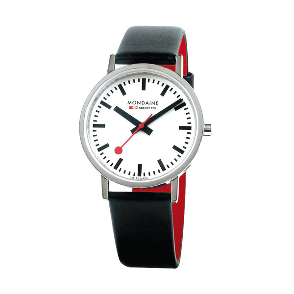 Mondaine - SBB - Classic - Armbåndsur - 36mm - Sort/Rød/Hvit - Norway Designs