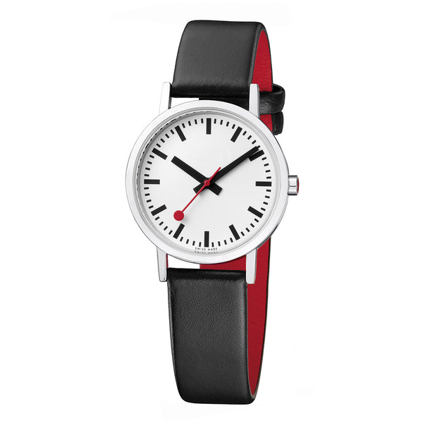 Mondaine  - SBB - Classic Pure - Armbåndsur - 30mm - Rød/Sort/Hvit - Norway Designs