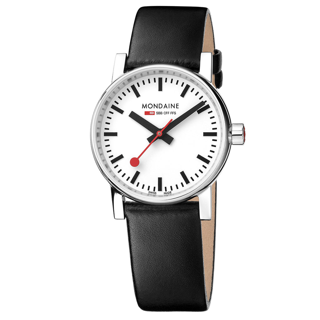 Mondaine - SBB Evo2 - Armbåndsur - 30mm - Sort/Hvit - Norway designs
