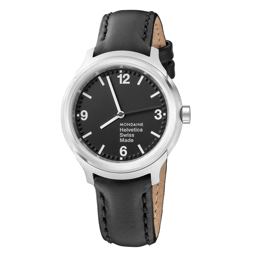 Mondaine - Armbåndsur - Helvetica No1 Bold - 34mm - Sort/Sort - Norway Designs