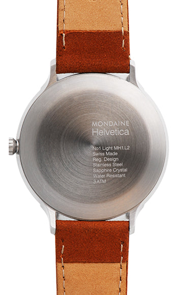 Mondaine - Helvetica No1 Light - Armbåndsur - 26mm - Brun/Hvit - Norway Designs