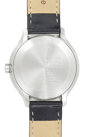 Mondaine - Helvetica Bold No1 - Armbåndsur - 43mm - Sort/Sort - Norway Designs