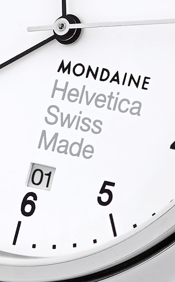 Mondaine Helvetica No 1 Regular Armbåndsur 40mm Metall/Hvit